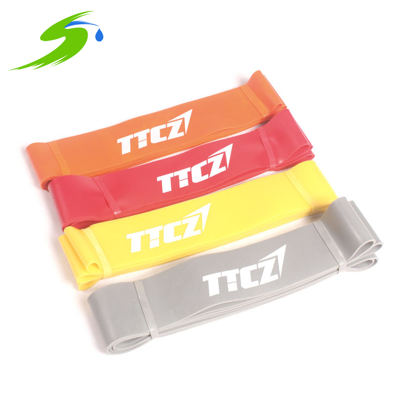 Natural Latex Power Band Fitness Training Equipment Crossfit GYM Lose Weight Strength Resistance Bands 208cm 4 Levels Sd060(China (Mainland))