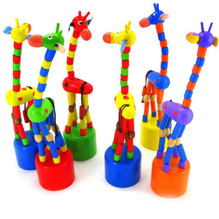 Baby Kids Wooden Toys Developmental Dancing Standing Rocking Giraffe Gift Toys Drop Shipping BB-144/br(China (Mainland))