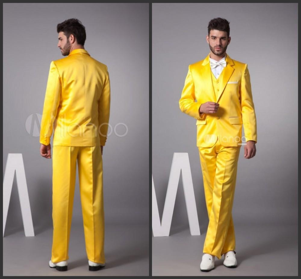 New Arrival New Style Groom Tuxedos Suit orange Lapel two button Wedding Suit Bridegroom Suits Custom Made (Jacket+Pants+vest)