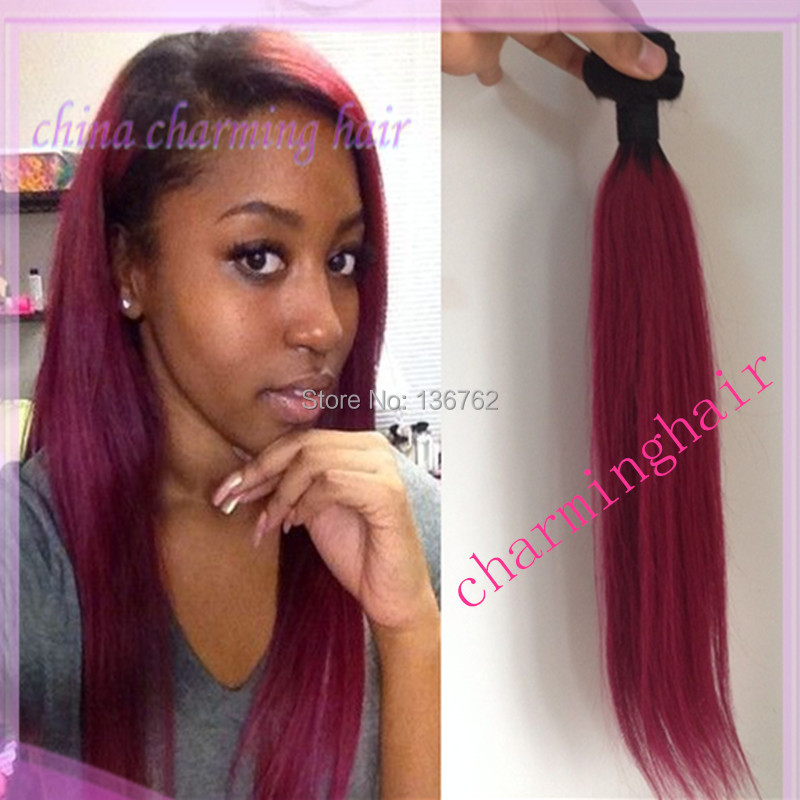 3 bundles two tone colors 1b burgundy hair dyed weave extensions the gallery for gt dark red weave hair the gallery for gt dark red weave hair pmusecretfo Image collections