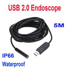 Мини USB 2,0 эндоскопа водонепроницаемый 5 м кабель инспекции камера бороскоп
