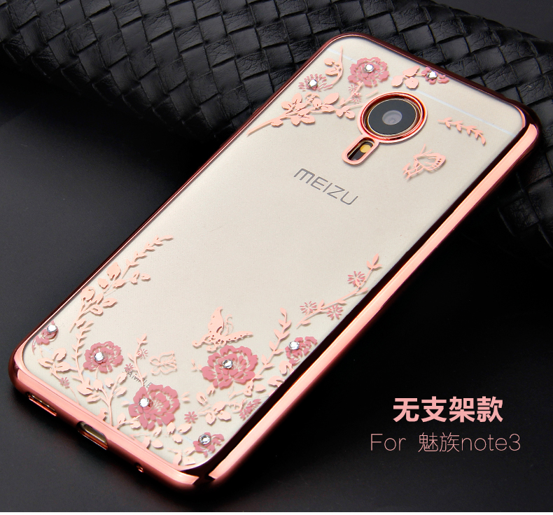 phone case for meizu m3 note rhinestone flower Relief painting soft tpu cover protective case for meizu meilan note 3(China (Mainland))