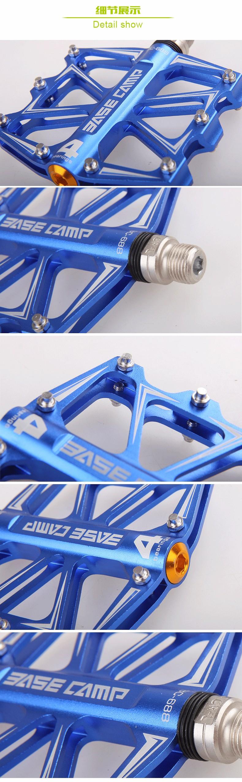 2Pcs MTB Mountain Bike Bycle Padel Ultralight Pedal Magnesium Alloy Pedal 243g