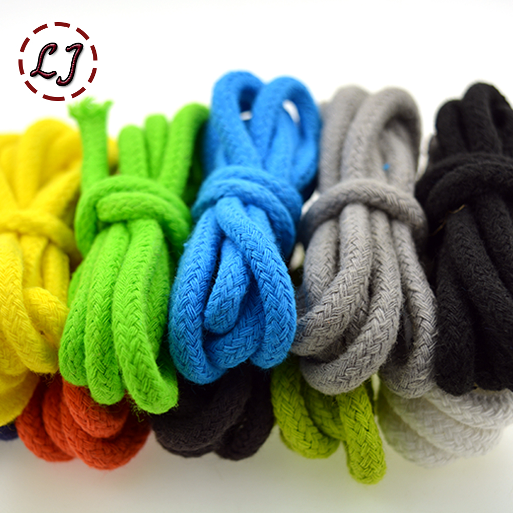 Wholesale 5mm 15 color high strength Handmade Woven100% Cotton Cords Cotton Rope for Accessories Craft Projects home DIY(China (Mainland))