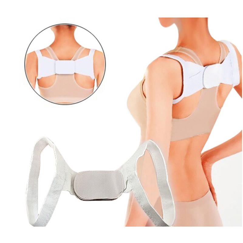 2PCS Adjustable Therapy Back Support Brace Belt Band Posture Shoulder Corrector Back Brace Posture Correction(China (Mainland))