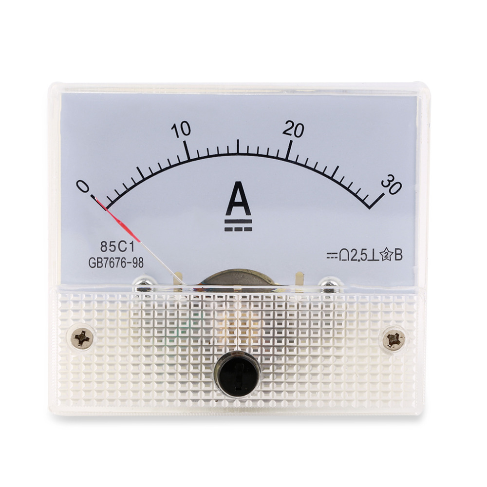 Hot Search DC 30A Analog Ammeter Panel AMP Current Meter 0-30A DC Doesn't Need Shunt New