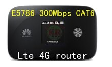 Desbloqueado Huawei e5786s-32a 4 g Wifi router e5786 LTE Cat6 300 Mbps 4 gMiFi router dongle 4 g móvel Wifi dongle pk e5878 e5186 mf95