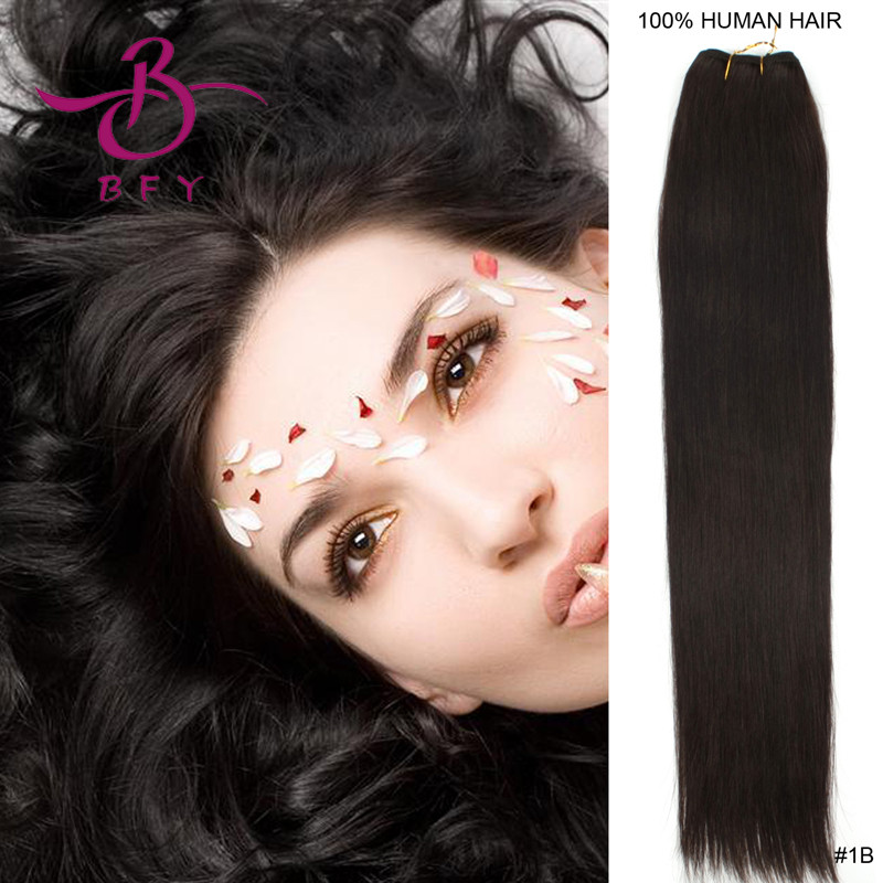 new package 50cm long*150cm wide sew in weave/tresses hair extension 100gram/bundle color #1B OFF BLACK<br><br>Aliexpress