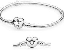 925 silver bracelet chains heart clip crown silver bracelets mix sizes 15-22cm(China (Mainland))