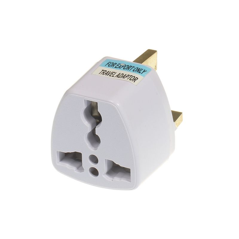 ( 50 pcs/lot ) Universal UK Plug Adapter Converter White US EU AU AC Travel Power Electrical Socket Outlets  -  DelighTake LED (shop: AliExpress store