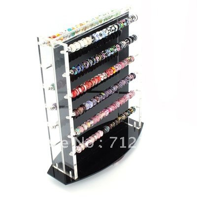 Plastic Swivel Counter Display for all large hole beads,european style Beads (Beads not included),Sold individually(China (Mainland))