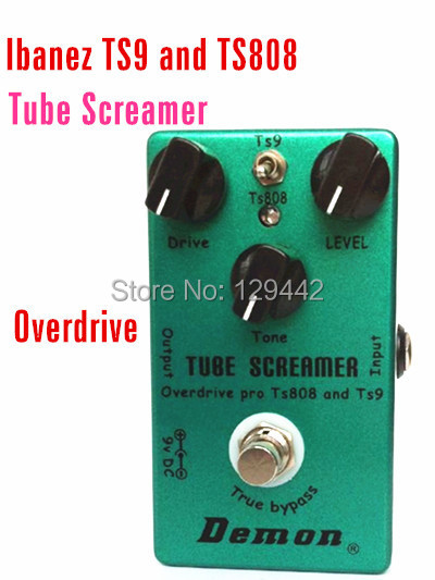 TS9 and TS808 Tube Screamers Guitar Effect Pedal Vintage Overdrive / Classic Overdrive and True Bypass(China (Mainland))