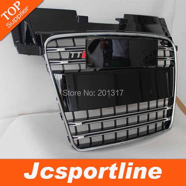 High Quality ABS front bumper grill, Car Grill Without Parking Sensor For Audi (Fit TT 2008-2014)(Hong Kong)