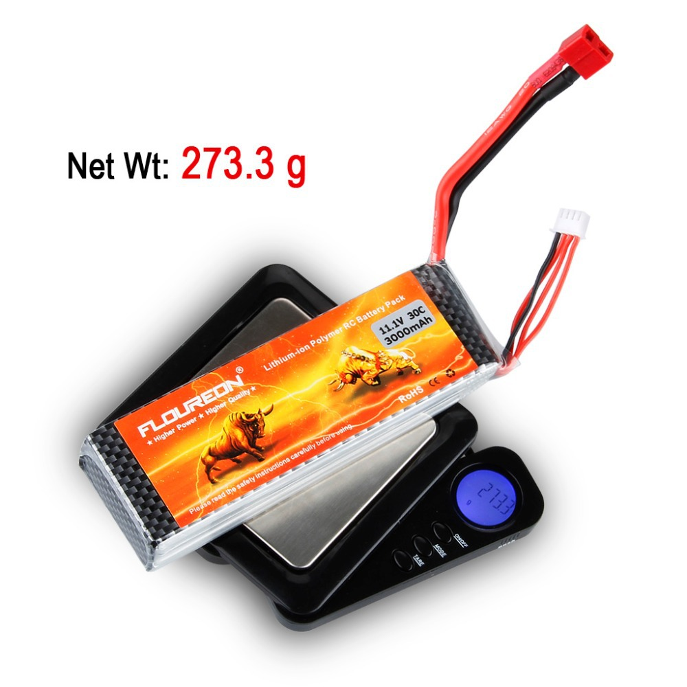 100% Brand FLOUREON 11.1V 3000mAh 3S 30C Lipo Battery for RC Helicopter Quadcopter Airplane Hobby(China (Mainland))