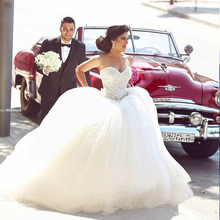Said Mhamad 2015 Women Dress Sweetheart Wedding Dresses Gowns Ball Gown Handmade Flower Bride Dresses Robe-De-Mariage(China (Mainland))