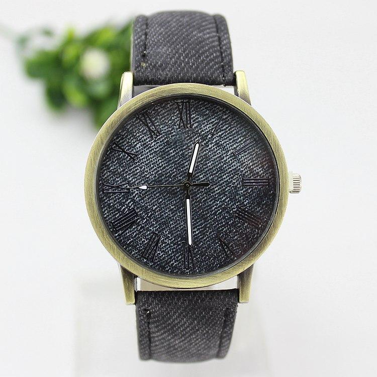 Наручные часы демин кожа кварцевый часы аналоговый женщины медный купорос весы