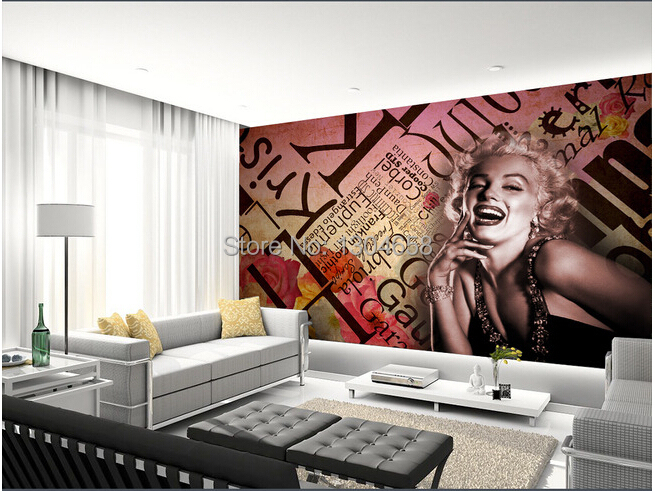 online kaufen gro handel marilyn monroe wallpaper aus china marilyn monroe wallpaper gro h ndler. Black Bedroom Furniture Sets. Home Design Ideas