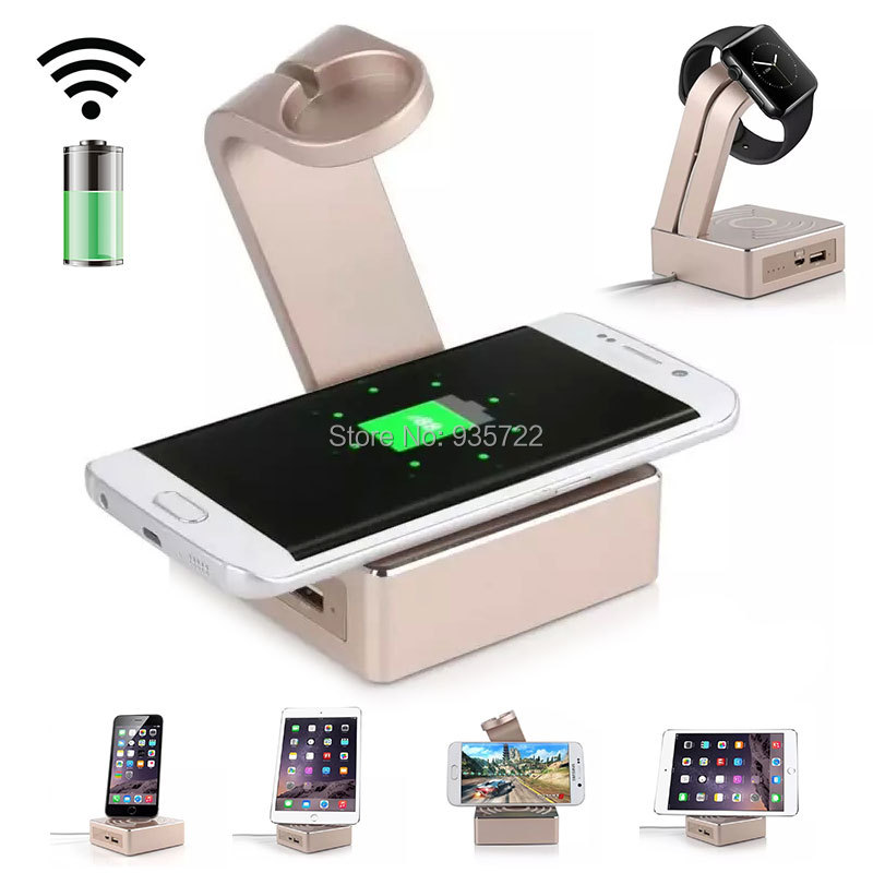 3 in 1 Wireless Charging Transmitter & Power Bank & Apple Watch Stand Holder(China (Mainland))