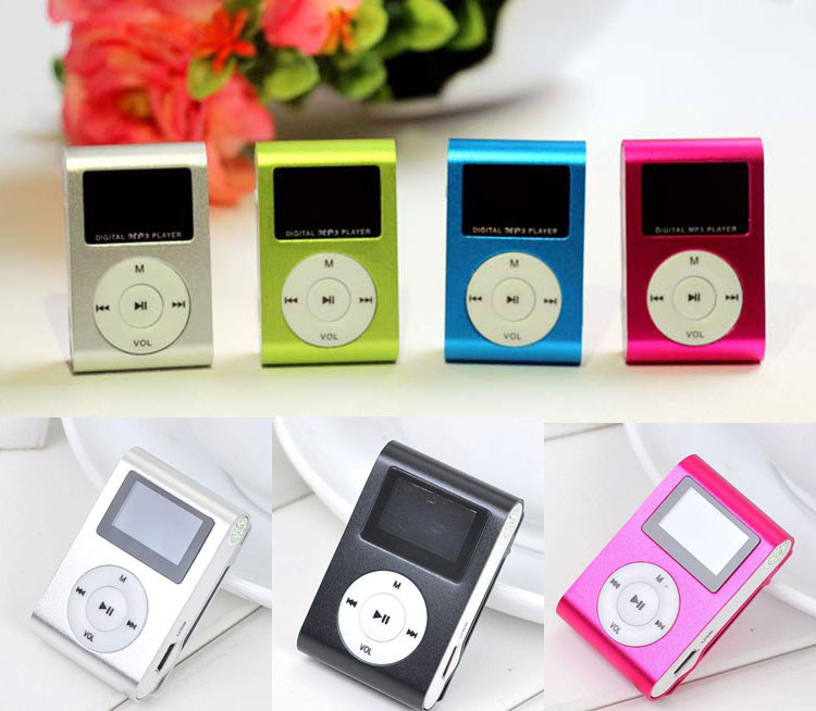 Free Shipping Mini Clip MP3 Design Digital LED Light Flash Mini MP3 Player Music Player With TF Card Slot Optional (Only MP3)(China (Mainland))
