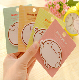 24pcs/lot New Funny Cartoon Expression designs Notepad/Memo pad/Paper sticky note/sticker message post/Wholesale(China (Mainland))