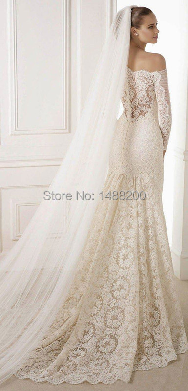 Wedding bridal veil 3 meters long single veil comb ivory/white elegant accessories free shipping 2015 wedding dress accessories(China (Mainland))