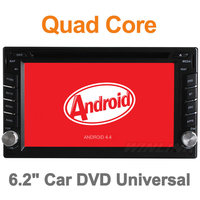2015 Quad Core Pure Android 4.4 DVD Car Universal Two 2 Din Car DVD Player with GPS Navigation Radio Car Video Player Stereo