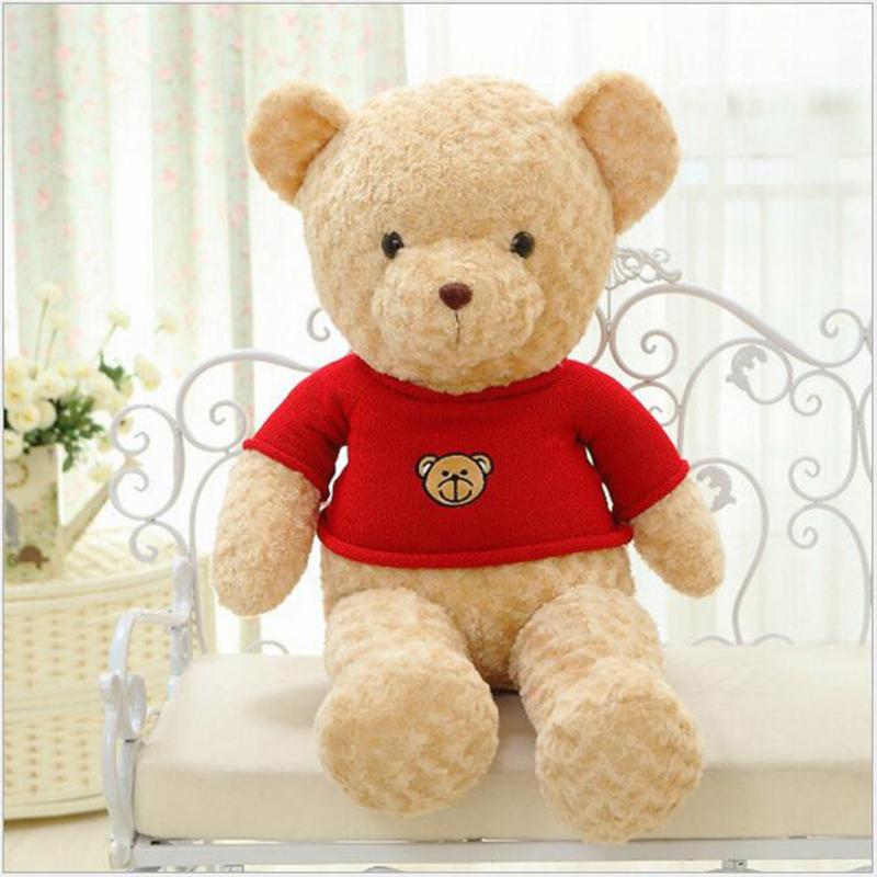 New 40cm Child plush Teddy Bear Doll Doll Clothes Puzzle Big Bear Hug Bear Doll Children Girls Birthday Gifts Wholesale x30(China (Mainland))