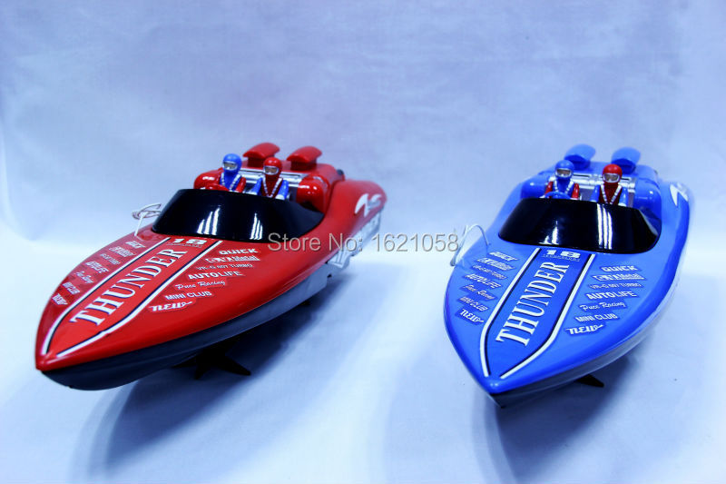 HOT SALE New Arrival High Speed Remote Control Boats Blue Red RC Boat 100M Max Speed 10km/h Electric Toys Plastic RC Ship(China (Mainland))