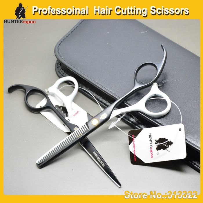 5.5 inch Beauty Hair Cutting Scissors kit Razor cutting shear + Thinning scissors set hairdressing salons barber - SOHO s Store store