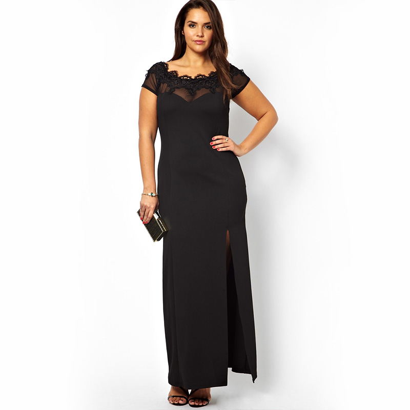 1 shoulder plus size dresses