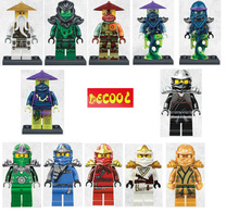 1 Decool Minifigures Cole Kai Jay Lloyd Nya Zane Chen Building Block Ninja Figures Gifts Toy Compatible Legoe bricks - Baby toy stores store
