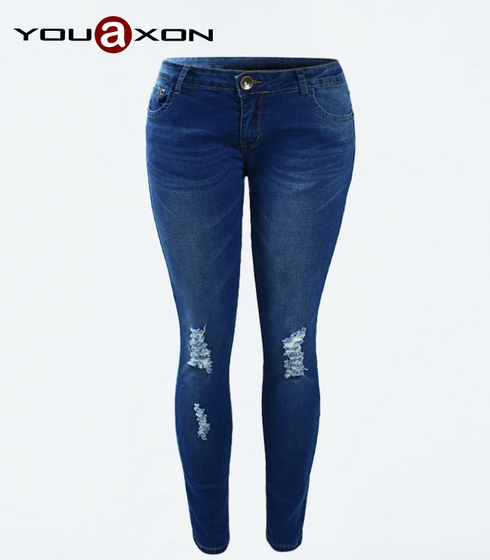 Женские джинсы Women jeans 1884 YouAxon + jeans woman ferzige woman jeans boot cut embroidered high stretch womens flared pants ladies flowers embroidery blue jeans mujer femme jeans