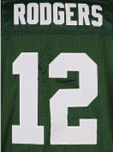 Men's High Quality 100% Stitched Color Blue White green blue #4 Brett 27 Eddie Randall jerseys(China (Mainland))