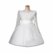 HELLO BABY Long sleeve white /Ivory baby girls lace christening baptism gowns,bautizo 1307
