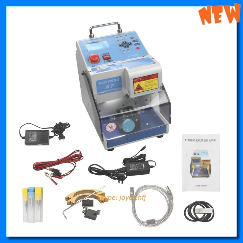 100% Original MIRACLEA7 Automatic Electronic MIRACLE-A7 car Key Cutting Machine MIRACLE A7 Car Key Cutter Locksmith(China (Mainland))