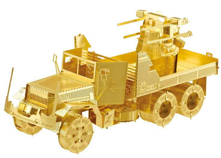 Delicate 3D Military Assembly model - M35 Truck - Metal 3D puzzle, DIY metallic 3D puzzle(China (Mainland))