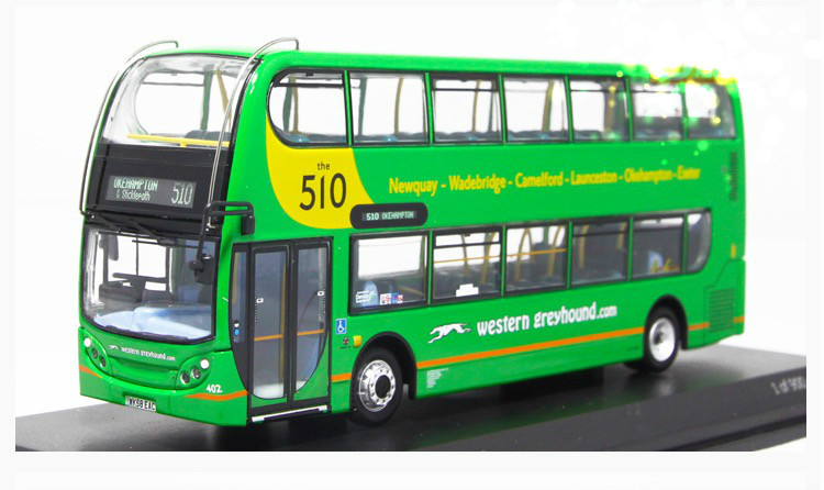 1:76 Scale Precision Collectible Car Styling Die Cast Dennis Enviro Line 510 Green Double-decker Bus Kid Toy Gift Collection(China (Mainland))