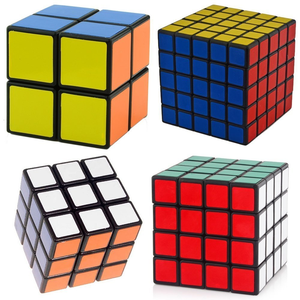 Shengshou Magic Speed Cube Puzzle Sets Bundle Pack Cube Collection 2 3 4 5 Layer Set of 4pcs(China (Mainland))