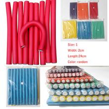 Free Shipping  20pcs/lot 2cm diameter Hair Curling Flexi rods Magic Air Hair Roller Curler Hair roller Sticker random colors(China (Mainland))