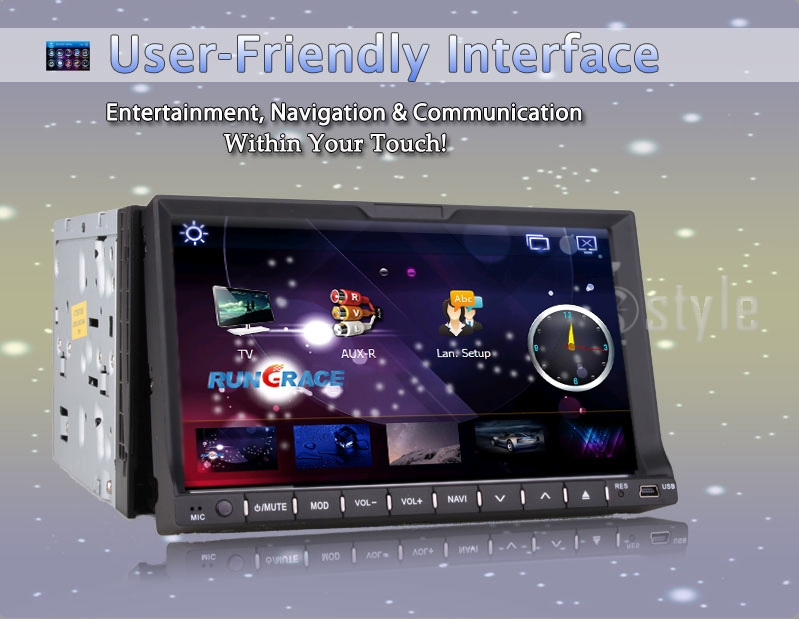 rear camera +Interchangeable car stereo 2 din car dvd gps radio Universal Radio In Dash Navigation car DVD CD Video mp3 Player(China (Mainland))