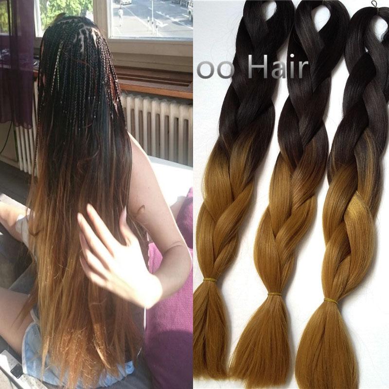 Гаджет  100g/pcs ombre kanekalon braiding hair extensions 5pcs/lot expression braiding hair 24inch kanekalon jumbo braid hair colors None Волосы и аксессуары
