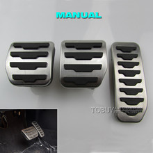 Car Styling Gas Brake Foot Rest Pedal Pads For Range Rover Evoque Freelander 2 MT, Orig Style Accelerator Fuel Pedal Covers(China (Mainland))