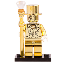 Buy Single Sale PG999 Mr Gold Limited Edition Chrom Golden Mini Dolls Collection Building Blocks Models Best Children Xmas Gift Toys for $1.66 in AliExpress store