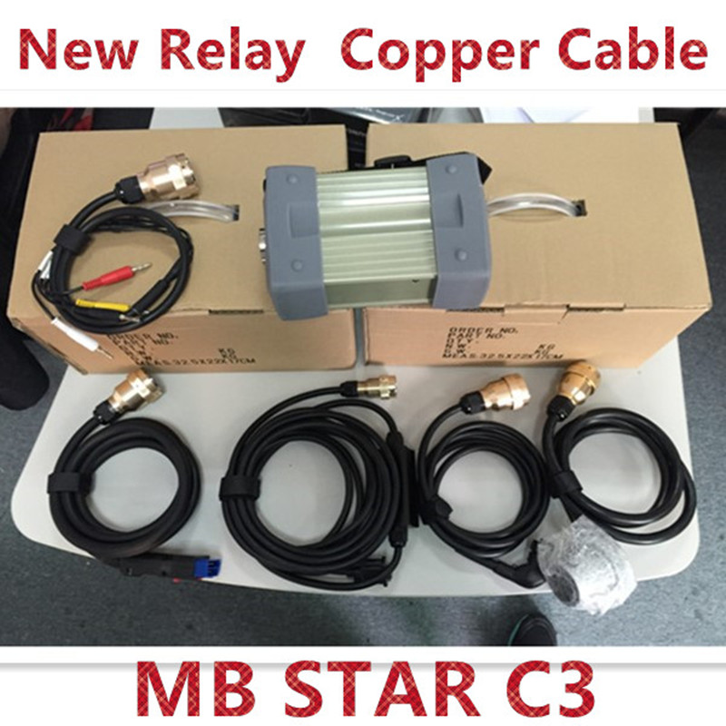 MB Star C3 without HDD with All New Relay and Strong Copper Cable DHL EMS Shipping(China (Mainland))