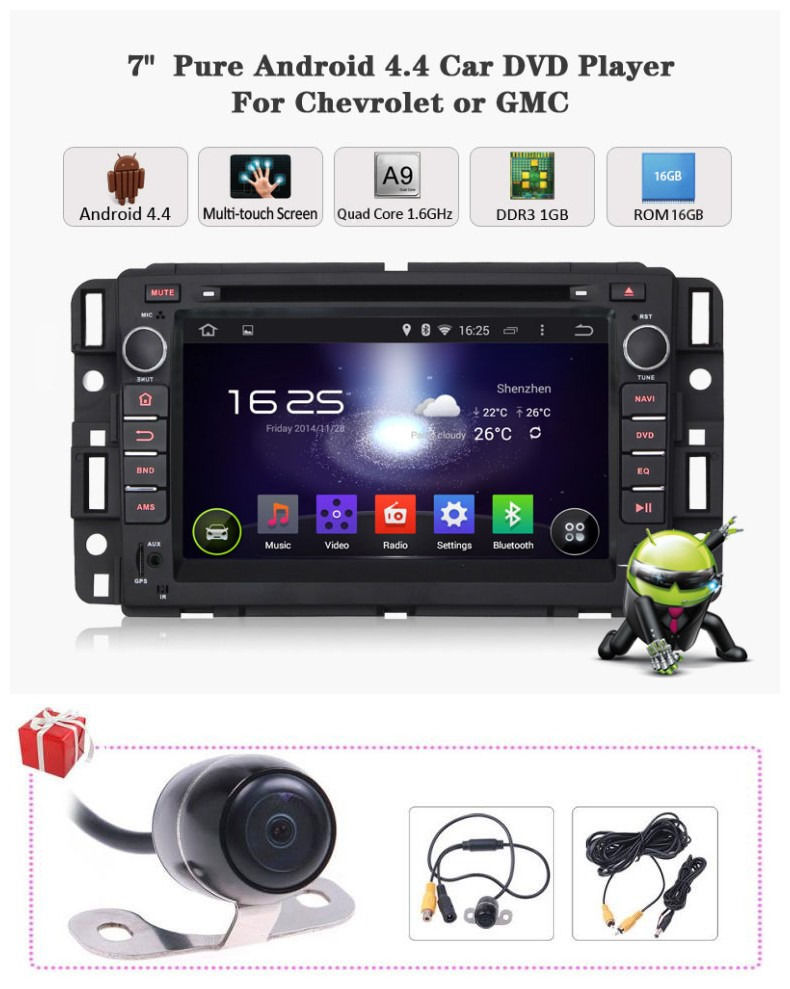 For Chevrolet Avalanche Tahoe Aveo Android 6 0 Radio GPS Satnav DVD Headunit