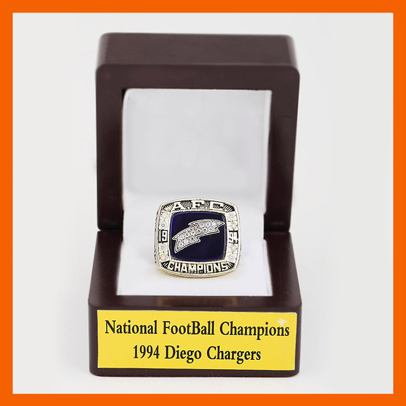 Gorgeous Wooden Boxes with A.F.C Brass 1994 San Diego Chargers Championship Rings(China (Mainland))