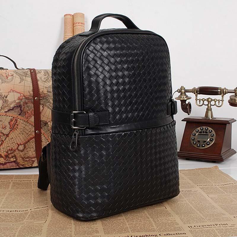 genuine leather women backpacks hand woven  women backpack hot sale high quality brand design women backpacks<br><br>Aliexpress