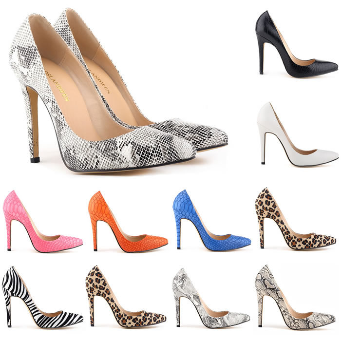 Classic Sexy Pointed Toe High Heels Women Pumps Shoes Faux snake Spring Brand Wedding Pumps Big Size 35-42 5 Color 302-1Snake(China (Mainland))