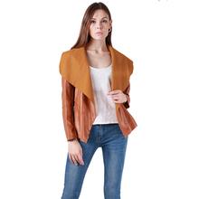 2016 New Fashion Autumn Winter Women Brand Faux Soft Leather Jackets Pu Long Sleeve Motorcycle Short Coat Size S-4XL 660759(China (Mainland))