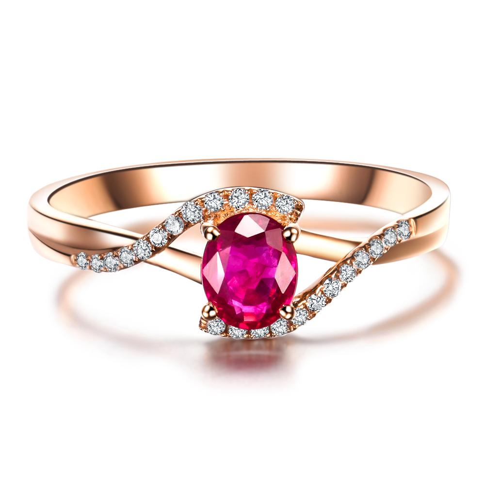 aliexpresscom buy 05ct vbori 18k gold natural ruby